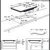 Plita incorporabila AEG IAE84850FB, Inductie, 4 arzatoare, 78 cm, Negru
