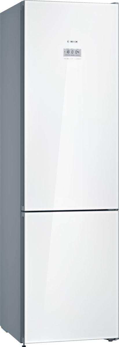 Combina frigorifica Bosch KGF39SW45, No Frost, 343 l, Clasa A+++, H 203 cm, Sticla alba