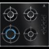 Plita incorporabila Electrolux KGG6407K, Gaz, 4 Arzatoare, 60 cm, Sticla neagra