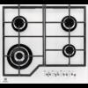 Plita incorporabila Electrolux KGG6436W, Gaz, 4 Arzatoare, WOK, Gratare fonta, 60 cm, Sticla alba