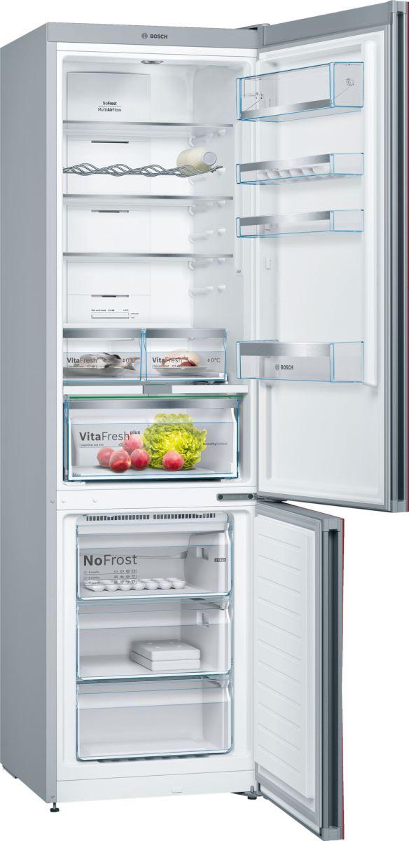 Combina frigorifica Bosch KGN39LR35, No Frost, 366 l, Clasa A++, H 203 cm, Rosu