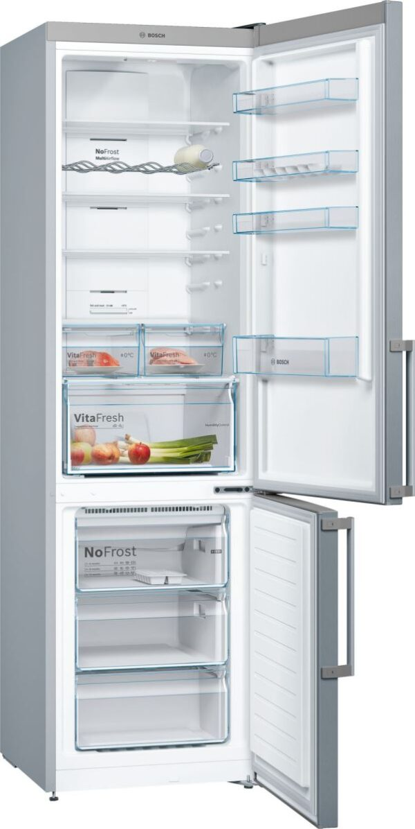 Combina frigorifica Bosch KGN39XL35, No Frost, 366 l, A++, VitaFresh, H 203 cm, Inox Look