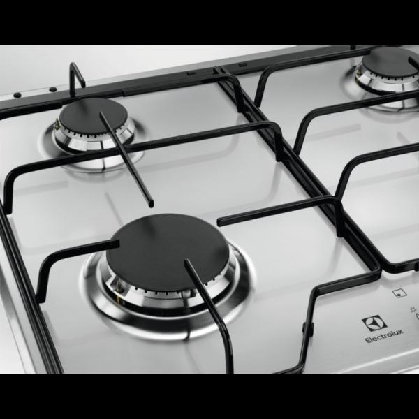 Plita incorporabila Electrolux KGS6424SX, Gaz, 4 Arzatoare, 60 cm, Inox