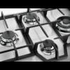 Plita incorporabila Electrolux KGS6456SX, Gaz, 4 Arzatoare, WOK, Gratare fonta, 60 cm, Inox