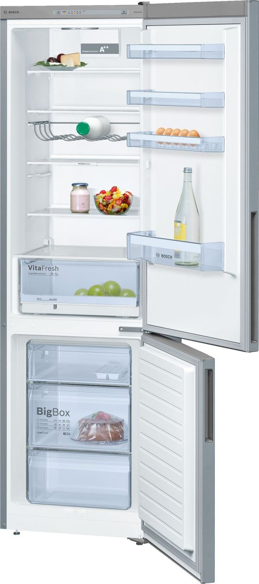 Combina frigorifica Bosch KGV39VL31S, 344 l, A++, H 201 cm, Argintiu