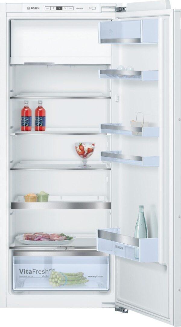 Frigider incorporabil Bosch KIL52AF30, FreshSense, 228 l, Clasa A++, VitaFresh plus, H 140 cm, Alb