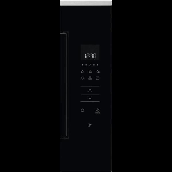 Cuptor cu microunde incorporabil TouchOpen Electrolux KMFD264TEX25 L, Control electronic, 900 W, Grill, Afisaj digital, Avertizare sonora, Timer, Negru/ Inox antiamprenta