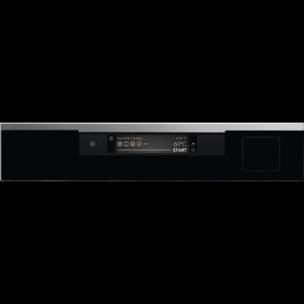 Cuptor incorporabil multifunctional SousVide Electrolux KOAAS31WX, Electric, 70L, 25 functii; SteamPro (gatire cu abur), Conectivitate WI-FI indoor, Panel frontal cu insertie de sticla, Afisaj digital TFT ACTIV- Control touch dinamic, Retete predefinite, Sonda temperatura, Grill, Convectie, Clasa A++, Inox/Negru