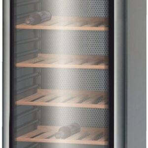 Vitrina de vinuri Bosch KSW30V81, 360 L, 120 sticle, 9 rafturi, H 185 cm, Argintiu