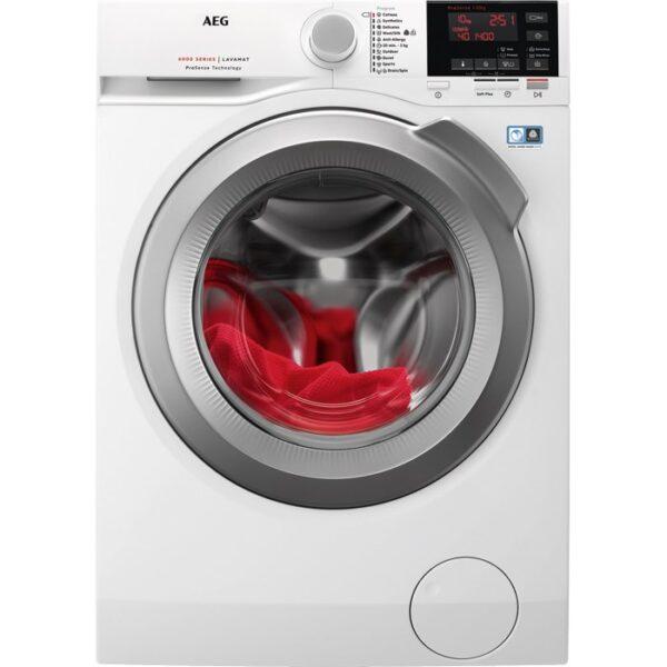Masina de spalat rufe AEG Seria 6 L6FBG41S, 10 kg, 1400 RPM, A+++ -20%, ProSense, Eco TimeSave, Inverter, Alb