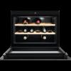 Racitor de vinuri incorporabil Electrolux KBW5X, 49 L, Capacitate 18 sticle, Rafturi lemn, Control electronic, Clasa A++, H 45 cm, Negru/Inox antiamprenta