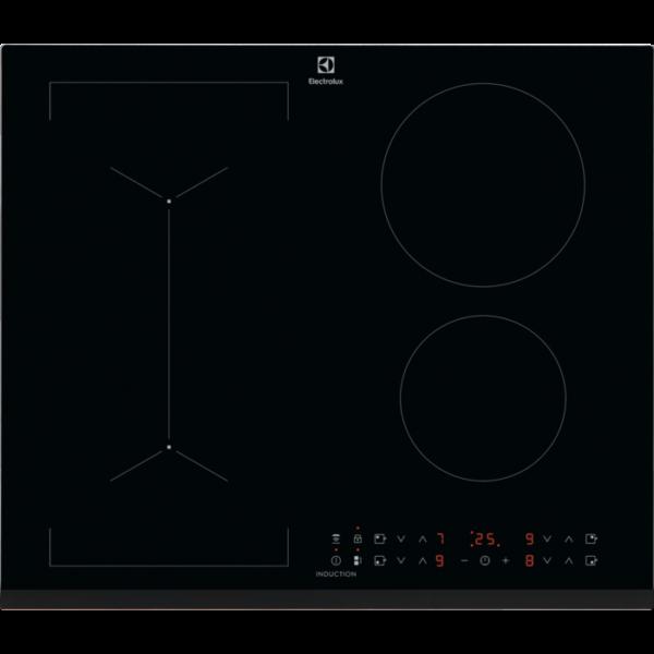 Plita incorporabila Electrolux LIV63431BK, Inductie, 4 zone de gatit, Control touch, Functie punte, Booster, Timer electronic, Child lock, Latime 60 cm, Negru