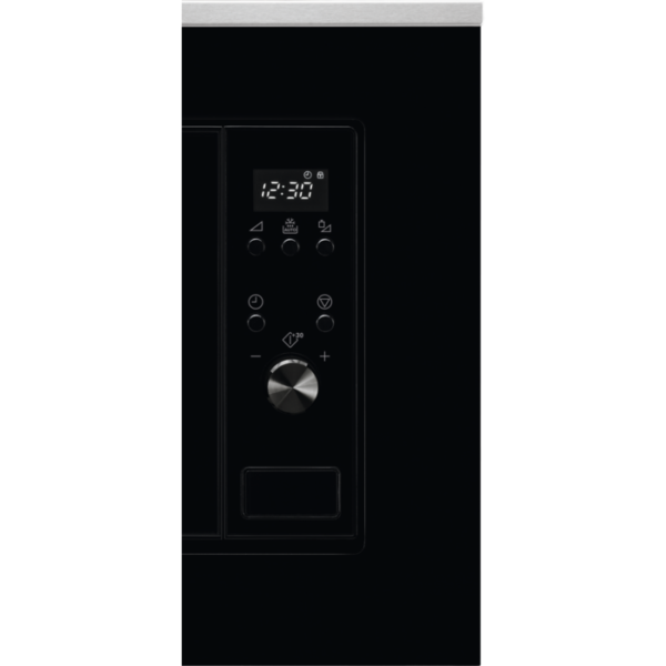 Cuptor cu microunde incorporabil Electrolux LMS2203EMX, 20 L, 700 W, 5 nivele de putere, Functie decongelare, Afisaj LED, Negru/Inox antiamprenta