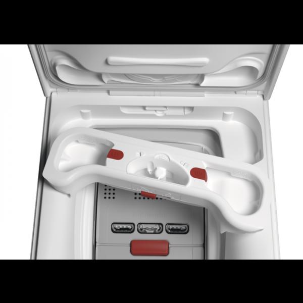 Masina de spalat rufe cu incarcare verticala AEG LTX8C373E, 7 kg, 1300 rpm, A+++ (-30%), display LCD, Alb