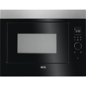 Cuptor cu microunde incorporabil AEG MBE2658DEM, 25 L, 5 nivele de putere, Control electronic, 900 W, Grill (800 W), Afisaj digital, Timer electronic, Negru/Inox antiamprenta