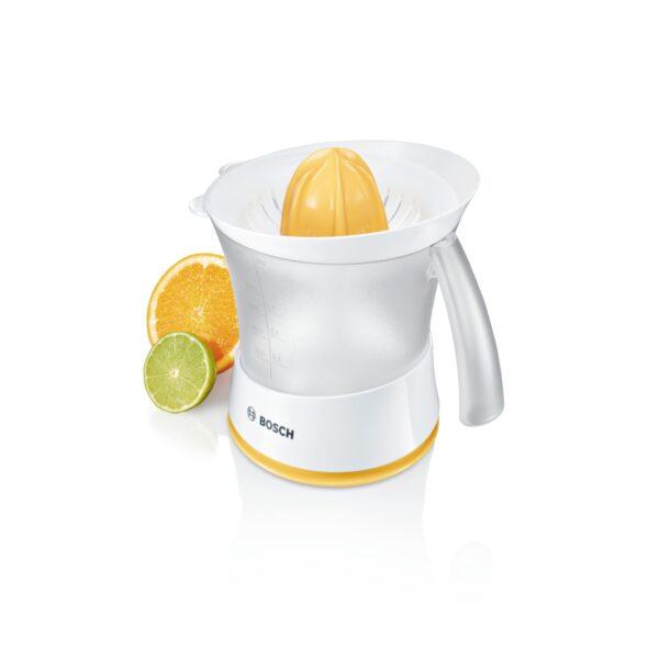 Storcator de citrice Bosch MCP3500, 2 site, 25 W, 0.8 l, Alb