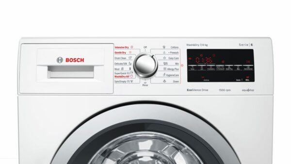 Masina de spalat rufe cu uscator Bosch WVG30442EU, 7 kg / 4 kg, 1500 rpm, Clasa A, Alb