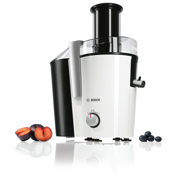 Storcator de fructe si legume Bosch MES25A0, 700 W, 2 viteze, 1.5 l, Alb/Antracit