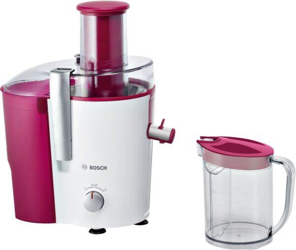 Storcator de fructe si legume Bosch MES25C0, 700 W, 2 Viteze, Drip Stop, Rosu/Alb