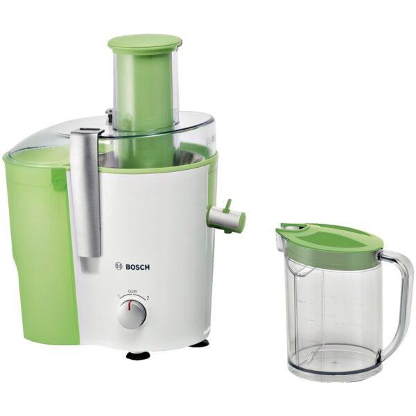Storcator de fructe si legume Bosch MES25G0, 700 W, 2 viteze, 1.5 l, Alb/Verde