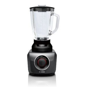 Blender de masa Bosch SilentMixx MMB42G0B, 700 W, 2 viteze, Functie Pulse, Negru