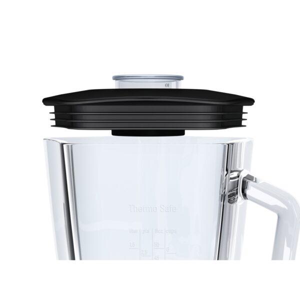 Blender de masa Bosch SilentMixx MMB43G2B, 700 W, 2.3 l, Vas din sticla, Accesoriu mini pentru tocat, Negru
