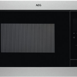 Cuptor cu microunde incorporabil AEG MSB2547D-M, 23 l, Putere microunde 900 W, Putere grill 1000 W, Afisaj digital, Timer electronic, H 39 cm, Inox antiamprenta