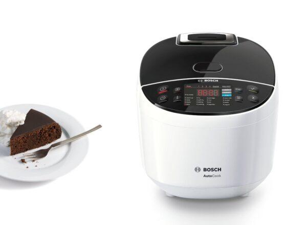 Multicooker Bosch MUC11W12, 900 W, Temperatura 40 -160 °C, Funcție de păstrare la cald, Alb