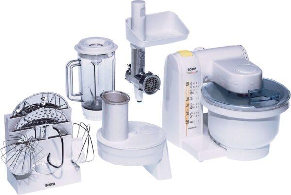 Robot de bucatarie Bosch MUM4655EU, 550 W, Blender 1 l, Tocator, Alb