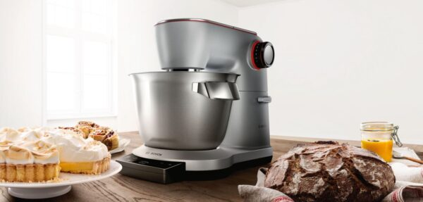 Robot de bucatarie Bosch OptiMUM MUM9BX5S22, 1500W, 5,5 l , 7 viteze, Cantar, Timer, Inox