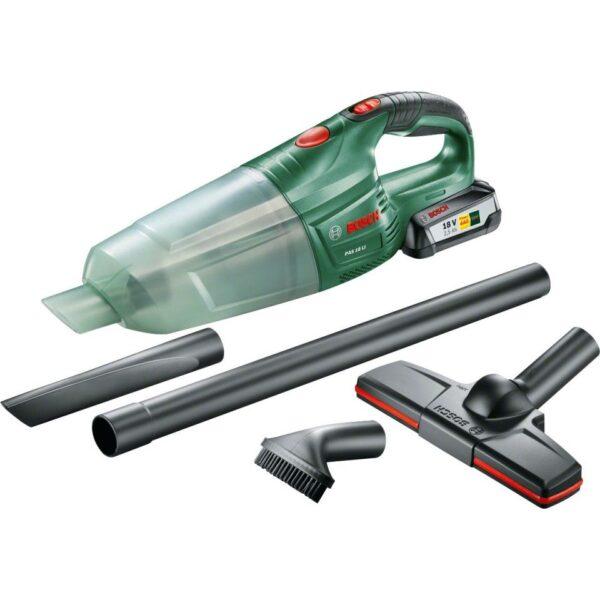 Aspirator de mana Bosch PAS 18 LI Set, 18V, 2Ah, Verde, 06033B9002
