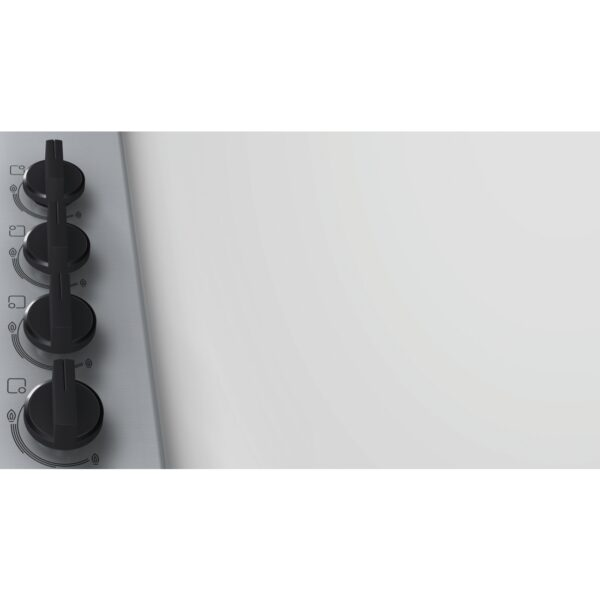 Plita incorporabila Bosch PBP6B5B80, Gaz, 4 Arzatoare, Aprindere electrica, Inox