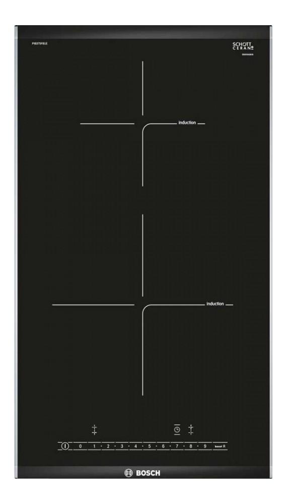 Plita incorporabila Bosch PIB375FB1E, Inductie, 2 zone de gatit, 30 cm