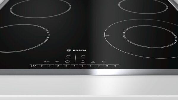 Plita incorporabila Bosch PKF645FP1E, Serie 6, 60 cm, plita vitroceramica radianta, control DirectSelect, 4 zone de gatit HighSpeed (1 cu dublu circuit), PowerBoost