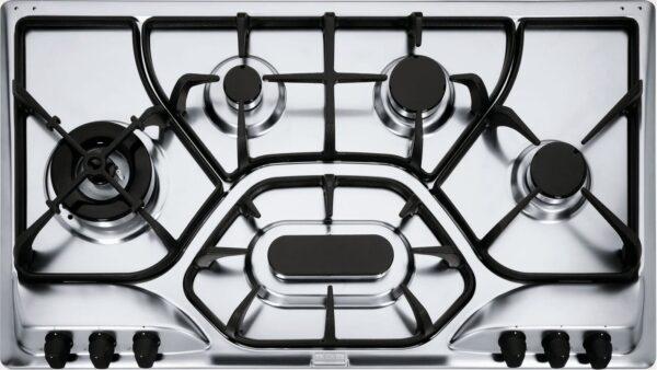 Plita incorporabila Franke Opera POL 6 3GAV-D-O, 6 arzatoare gaz, 90 cm, Gratare din fonta, Dekor