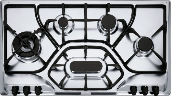 Plita incorporabila Franke Opera POT 6 3GAV-D-O, 6 arzatoare gaz, 90 cm, Gratare din fonta, Microdekor
