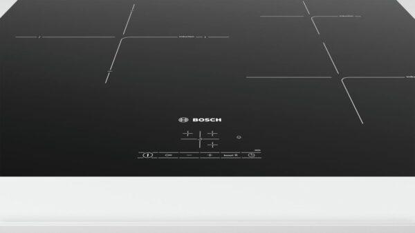 Plita incorporabila Bosch PUJ611BB1E, Serie 4, 60 cm, plita vitroceramica cu inductie, control TouchSelect, 3 zone de gatit prin inductie, PowerBoost
