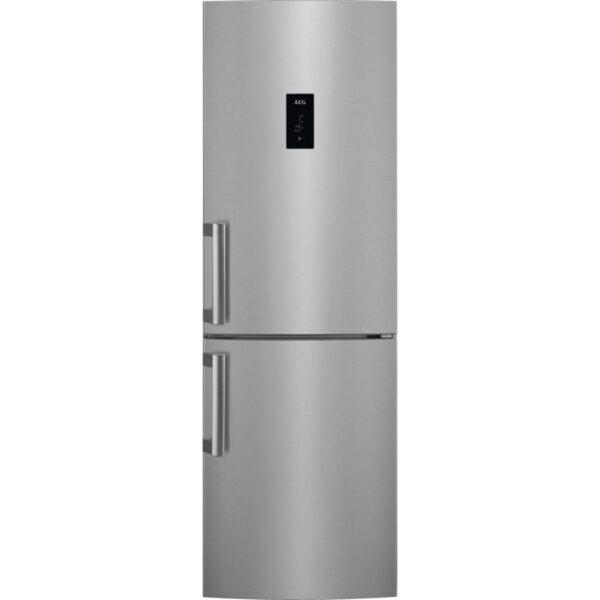 Combina frigorifica AEGRCB63326OX, No Frost, 298 l, Afisaj LCD pe usa Touch control, Clasa A++, H 185 cm, Inox antiamprenta