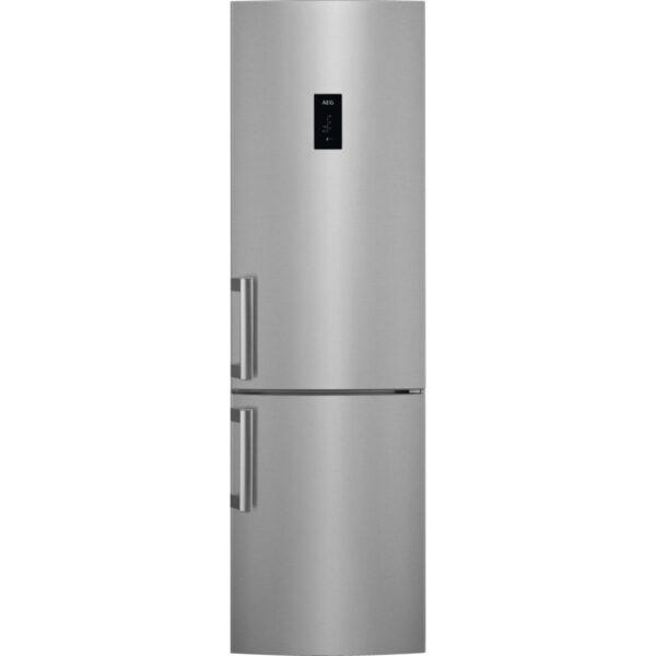 Combina frigorifica AEGRCB63726OX, No Frost, 319 l, Afisaj LCD pe usa Touch control, Clasa A++, H 200 cm, Inox antiamprenta
