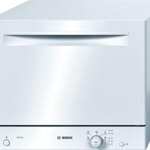 Masina de spalat vase Bosch SKS51E22EU, Compacta, 6 seturi, 5 programe, Clasa A+, Alb