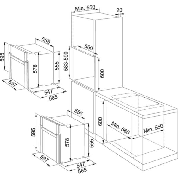Cuptor incorporabil Franke Smart SM 86M XS / N, Multifunctional, 9 Functii, 63 l, Display LCD, Inox 116.0373.440