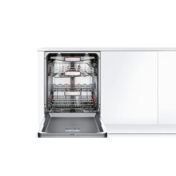 Masina de spalat vase Bosch SMI88TS36E, Partial incorporabila, Serie 8, 60 cm, 13 seturi, clasa A+++ -10%, Zeolith Drying system, display TFT, 8 programe, Inox