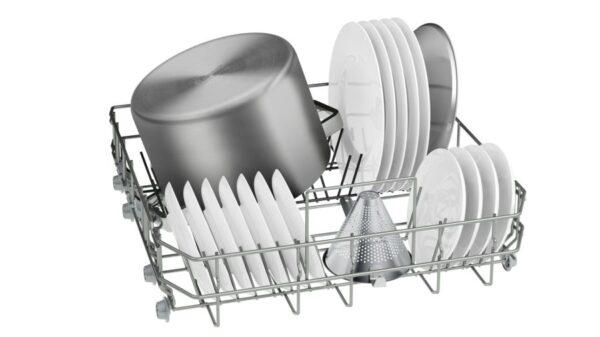 Masina de spalat vase Bosch SMS45EW01E, Independenta, Serie 4, 60 cm, 13 seturi, clasa A++, 5 programe, EcoSilence Drive, Alb