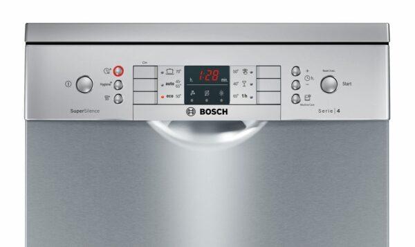 Masina de spalat vase Bosch Serie 4 SPS46II07E Super Silence, Independenta, 45 cm, 9 seturi, 6 programe, A++, VarioSpeed Plus, HygienePlus, ExtraDry, Inox antiamprenta/Silver