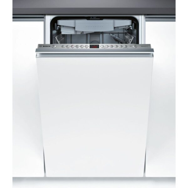 Masina de spalat vase Bosch Serie 4 SPV46FX00E Silent Plus, Total incorporabila, 45 cm, 10 seturi, 6 programe, A++, VarioSpeed Plus, Infolight, Panel comanda inox