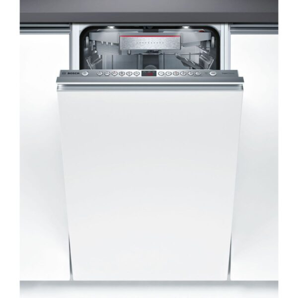 Masina de spalat vase Bosch Serie 6 SPV66TD00E Super Silent, Total incorporabila, 45 cm, 10 seturi, 6 programe, A++, DoorOpen Assist, VarioSpeed Plus, Emotionlight, Panel comanda inox