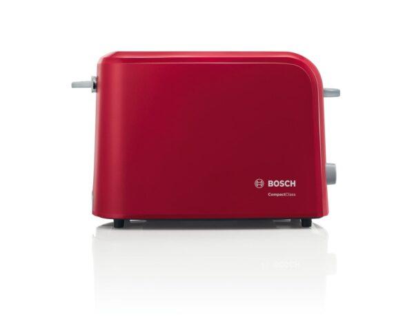 Prajitor de paine Bosch CompactClass TAT3A014, 980 W, Rosu