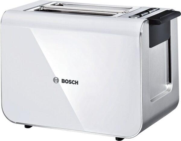 Prajitor de paine Bosch Styline TAT8611, 860 W, Alb