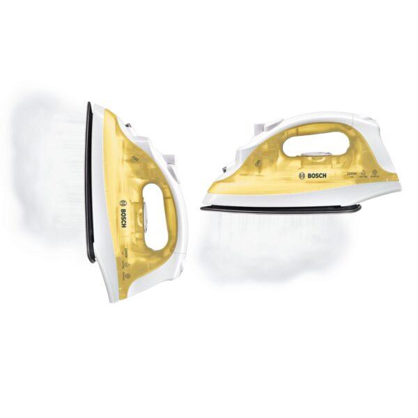 Fier de calcat Bosch TDA2325, Palladium glissee, 1800 W, Alb/Galben
