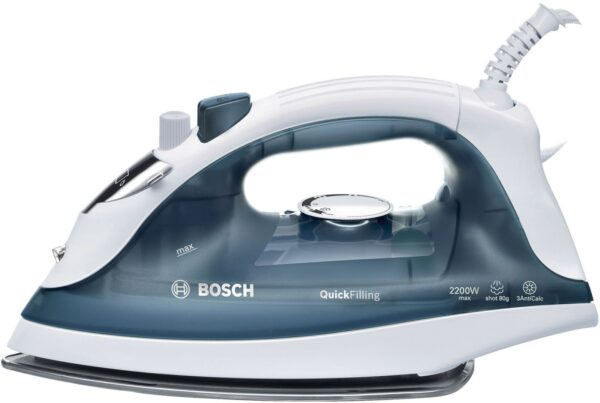 Fier de calcat Bosch TDA2365, Palladium-Glisee, 2200 W, Alb/Gri